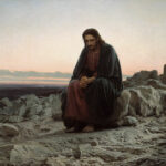 """Christ in the Desert,"" Ivan Kramskoi, 1872, Wikipedia."