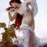 """Dawn,"" William-Adolphe Bouguereau, 1881, WikiArt."