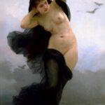"""Night,"" William-Adolphe Bouguereau, 1883, WikiArt."