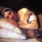 """Sleeping Girl,"" Alexy Venetsianov, Wikiart."