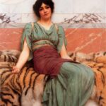 """Sweet Dreams,"" John William Godward, 1901, WikiArt."