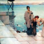 """A Kiss,"" Sir Lawrence Alma-Tadema, 1891, WikiArt."