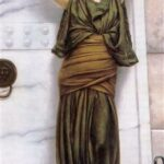 """""""Ianthe,"""" John William Godward, 1889, WikiArt."""