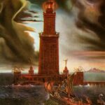"""Lighthouse at Alexandria,"" Salvador Dali, 1954, WikiArt."