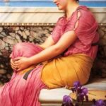 """Absence Make Heart Grow Fonder,"" John William Godward, 1912, WikiArt."