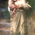 """Lambs,"" William-Adolphe Bourguereau, 1897, WikiArt."