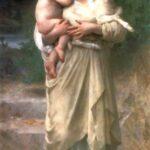 """Lambs,"" William-Adolphe Bourguereau, 1897, WikiArt."