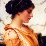 """""""Sabinella,"""" John William Godward, 1912, WikiArt."""